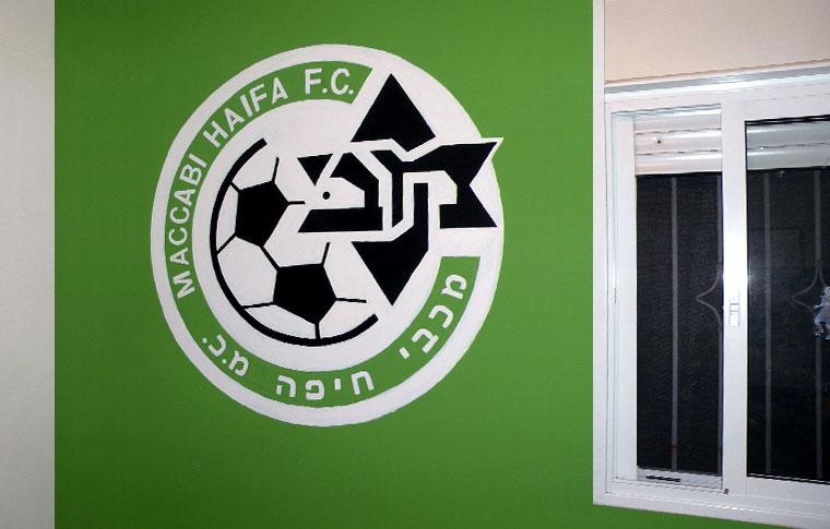 סמל מכבי חיפה ציורי קיר לנוער