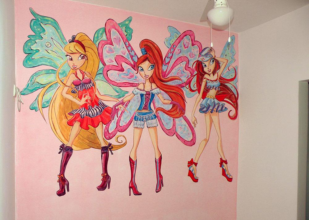 ציור קיר של פיות ווינגס