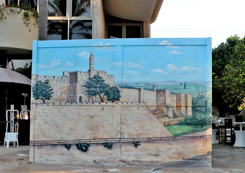 ציור של מגדל דוד על סוכה