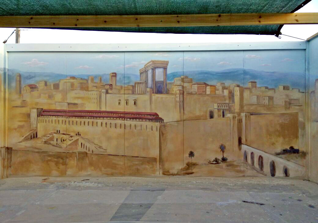 ציור בית המקדש בסוכה