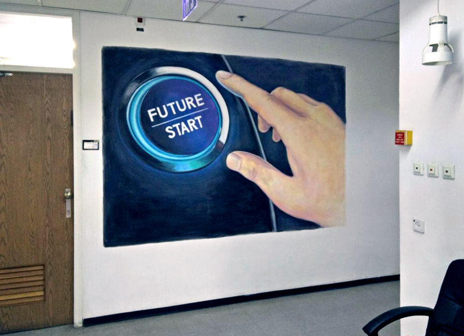 ציור קיר למשרד