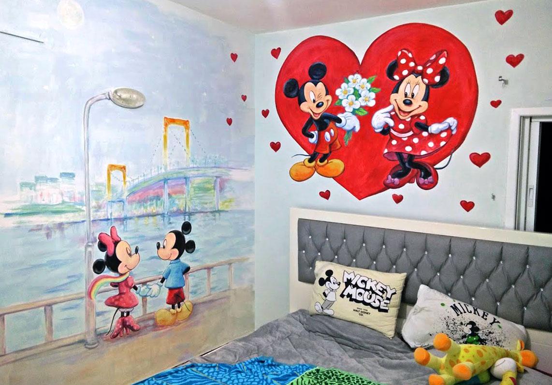 ציורים של מיקי מאוס לחדר ילדים