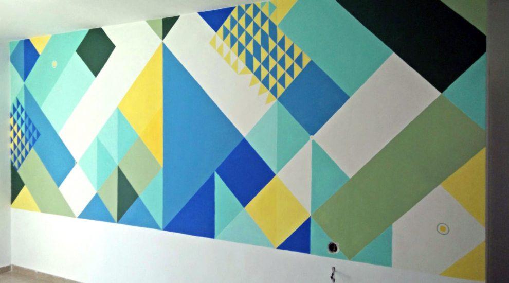 ציור של טפט אבסטרקטי לסלון