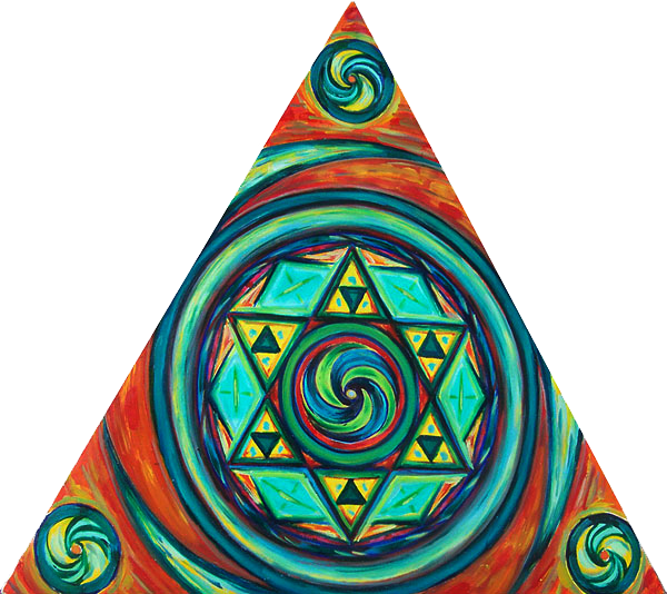תמונה שמן על בד Triangle Mandala
