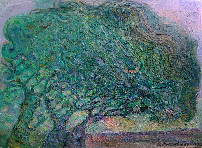 תמונה שמן על בד Trees
