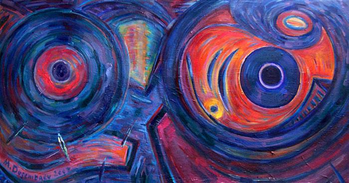 תמונה שמן על בד The circles