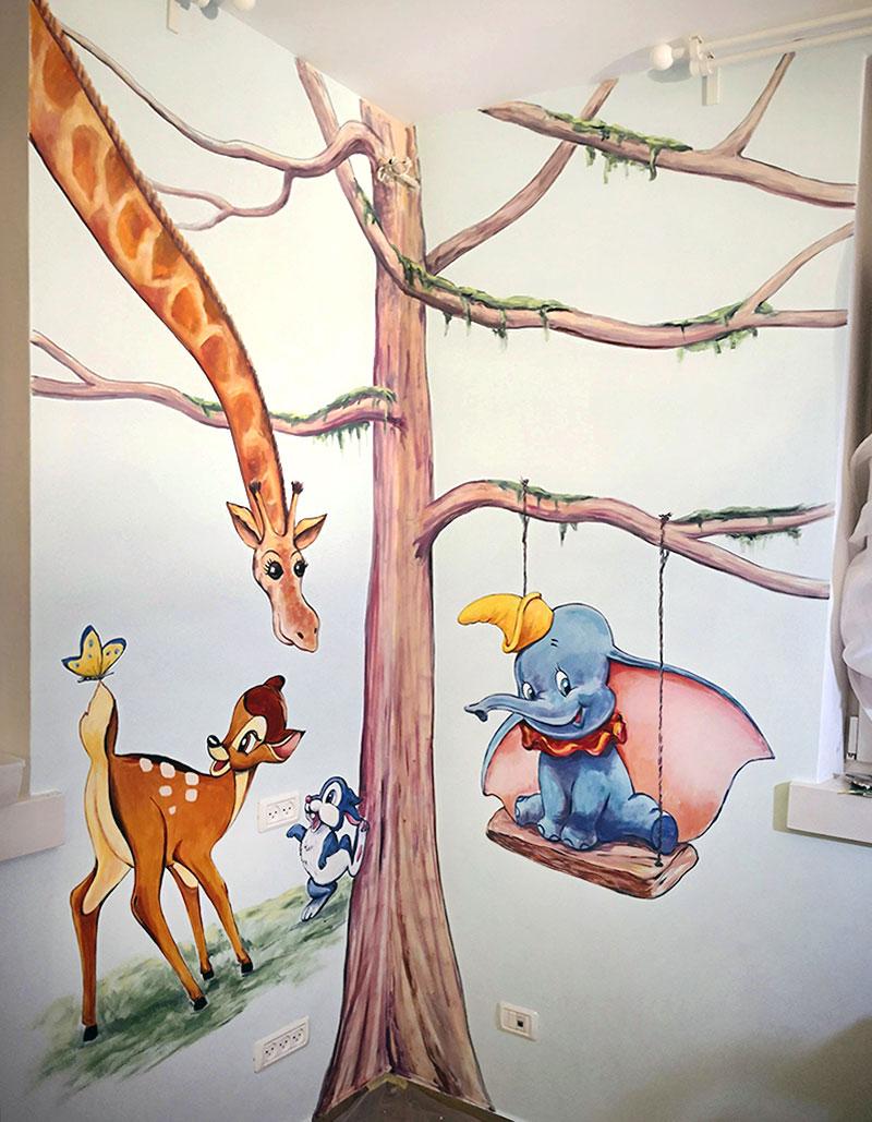 ציורי קיר של דמויות מהסרטים