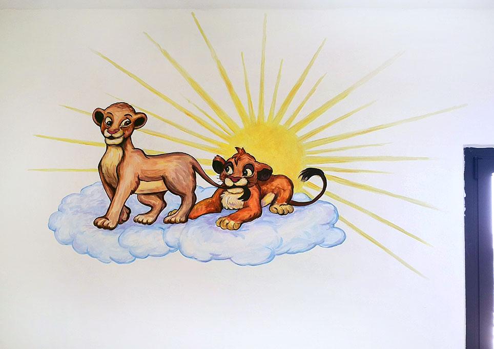 ציור קיר מלך האריות בחדר תינוקות