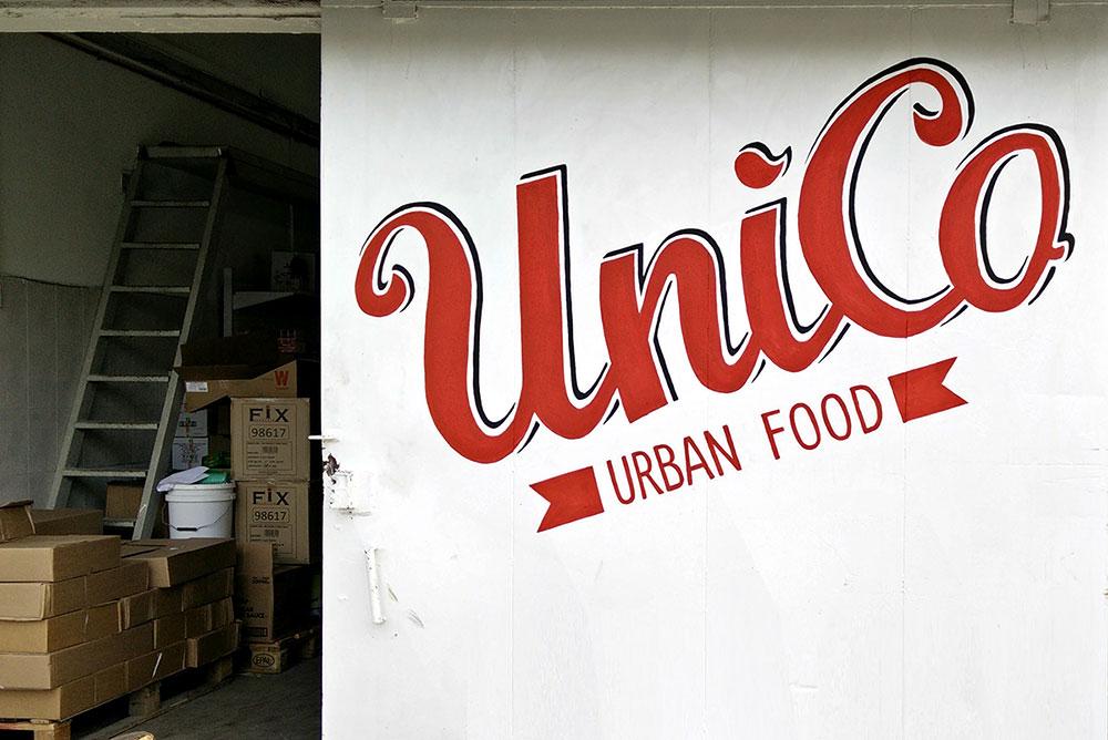 ציור של לוגו למסעדת UniCo בתל אביב