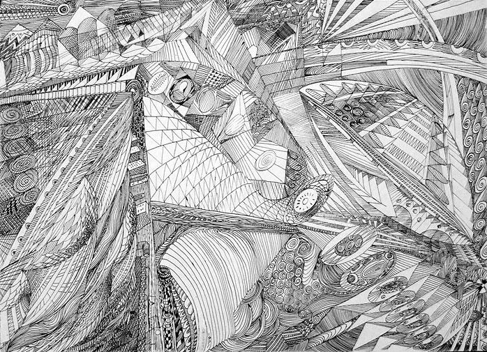 ציורי אבסטרקט Projection of the Time & the Space