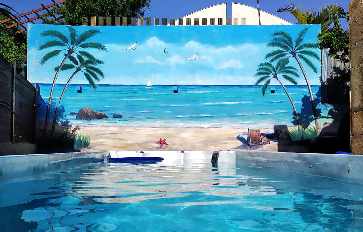 ציורי קיר לבריכה