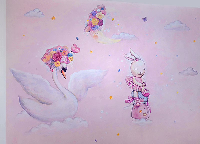 ציור קיר לחדר תינוקות